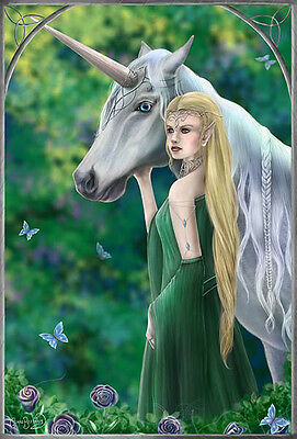 NEW CLARE BARTRAM ELVEN GOTHIC FANTASY  3d PRINT PICTURE WITH FREE POSTAGE
