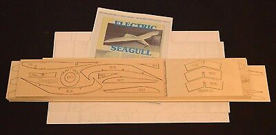 "Remote Control SEAGULL Laser Cut Short Kit & Instruction 78""ws SOARING GLIDER"