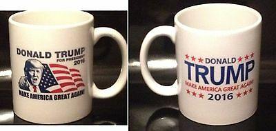 Donald Trump 2016 Coffee Mug Make America Great Again (2 Sided Design)
