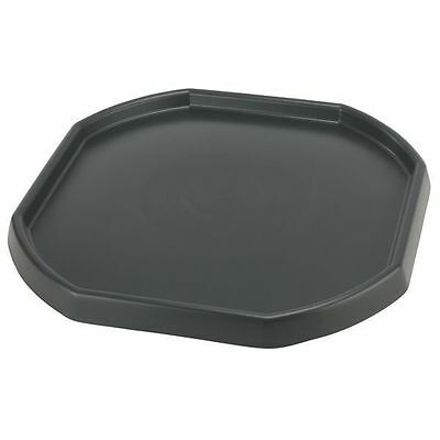 Large Plastic Builders MIXING TRAY for Cement Mortar Sand Trendy Spot Black