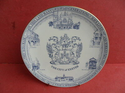 Caverswall, City of Exeter, Commemorative Plate REDUCED!