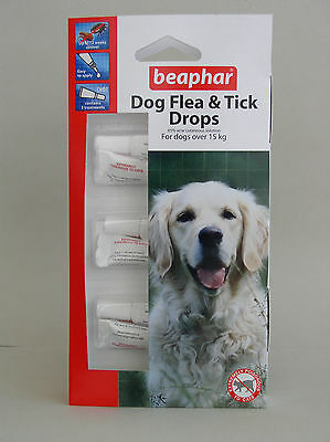 Beaphar Dog 12 Week Spot On Drops Repellant for Large Dogs Fleas & Ticks Trendy