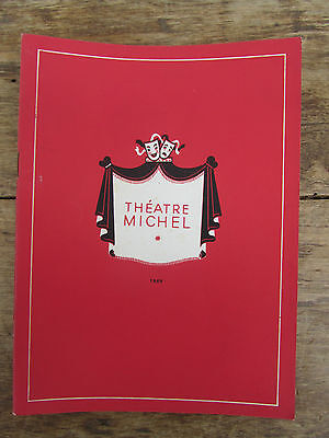 Ancien Programme Theatre Michel 1955 / 1956