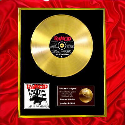 Rancid And Out Come The Wolves Cd Gold Disc Free P+P!
