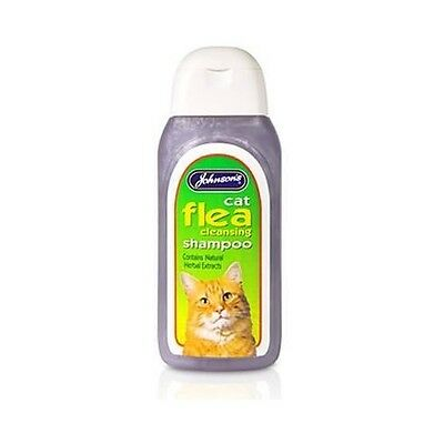 Johnsons Cat Flea Wash Bath Shampoo Trendy Treatment Cat Kittens Cleansing Fleas