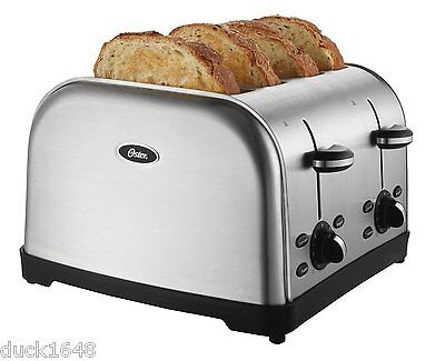 Oster TSSTTRWF4S 4-Slice Toaster Stainless Steel Toast Bagels Retractable Cord