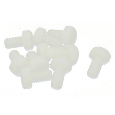10 Pcs Hex Head Cap Nylon Hexagonal Screw Thread Right Hand M8 x 15mm