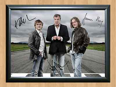 Top Gear Clarkson Hammond May Signed Autographed A4 Print Photo Poster TV Show