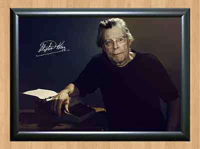 Stephen King The Shining Carrie Mist Misery Signed Autographed A4 Print Photo