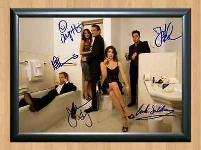 HOW I MET YOUR MOTHER Season 9 Cast  Signed Autographed A4 Print Poster Dvd