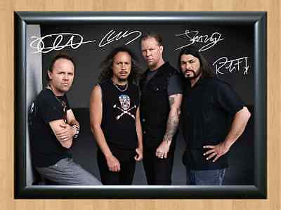 Metallica Rock Band James Hetfield Signed Autographed A4 Print Poster Photo CD