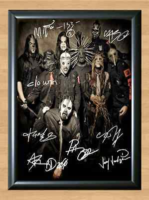 Slipknot Band Heavy Metal Signed Autographed A4 Print Poster Photo Autograph CD
