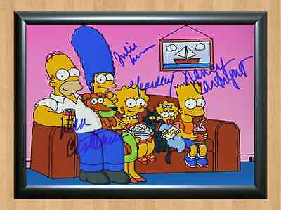 The Simpsons Cast Matt Groening Homer Signed Autographed A4 Print Poster TV Show