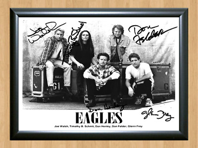 The Eagles Band Glenn Don Bernie Signed Autographed A4 Photo Print Poster CD DVD