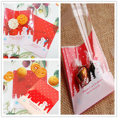 10PCs Cards  Gift Packaging Bags Christmas Decoration(Include Bag Only) cute