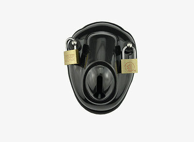 Black Male Polycarbonate Bowl Chastity Device New Arrival A139-1