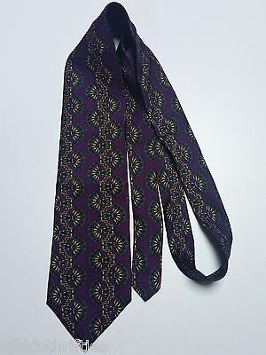 Christian Dior Men's Tie Monsieur Collection 100% Silk Made in the USA Purple