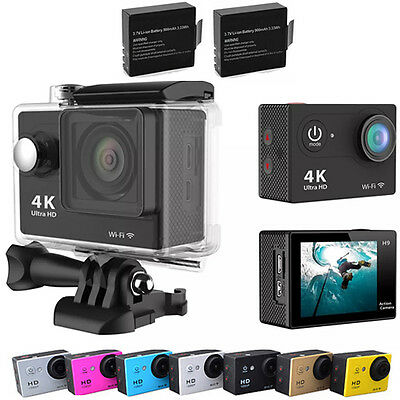 Original  Waterproof Ultra 4K H9 HD1080P WiFi DV Action Sports Camera Camcorder