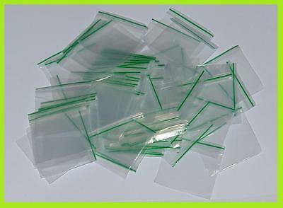 Small Clear Button Bags Poly Polythene Plastic Valu Seal Resealable Zip Trendy