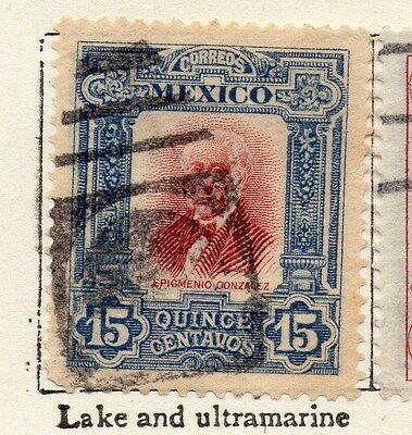 Mexico 1910 Early Issue Fine Used 15c. 006293
