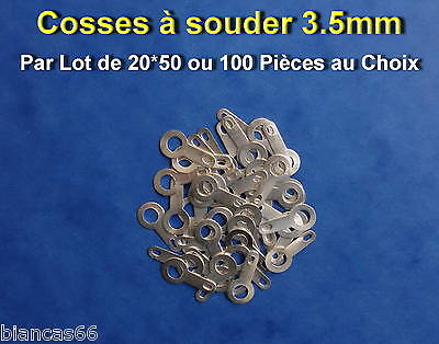 *** Lot De 20*50*100 Ou 200 Cosses Oeillet A Souder Ø 3.5Mm  ***