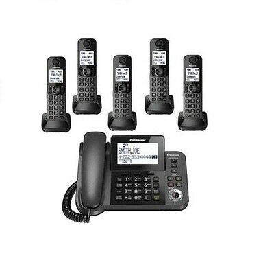 Panasonic KX-TGF385M DECT 5-Handset Landline Telephone Cordless and corded