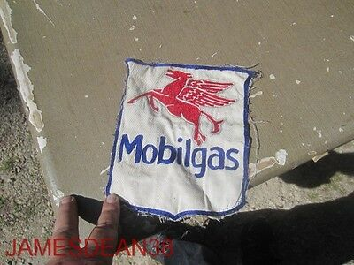 "Vintage 8"" Tall Mobilgas Mobil Oil Patch Jacket Back Pegasus Large"