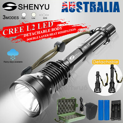 SHENYU CREE XM-L2 LED 9000Lm 18650 Rechargeable Battery Charger Flashlight Torch
