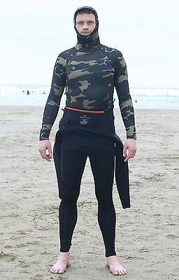 2mm Neo Camo thermal hooded rash vest - ALL SIZES AVAIL Ideal for Surf and Kayak