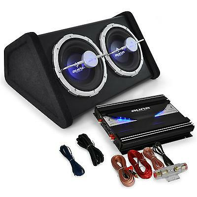 Powerful 2800W HiFi Car Audio System By Auna Dual Subwoofer Amplifier Set