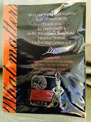 Castmember 2004 Thank You United Way Campaign Pin (PeterPan)