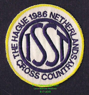 LMH PATCH Badge '86 ISST CROSS COUNTRY School Sports Tournament Haag NETHERLANDS