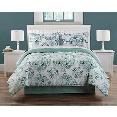 8 Pieces Complete Bedding Bed Set Soft Geometric Comforter King Queen Full Twin