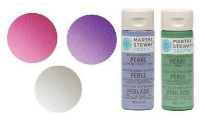 Martha Stewart Acrylic Pearl Paint Craft SELECT YOUR COLOR!