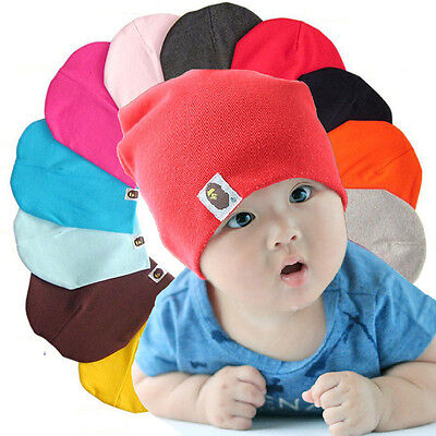 Baby Boys Girls Children Newborn Infant Toddler Kids Cotton Cute Hat Beanie Cap