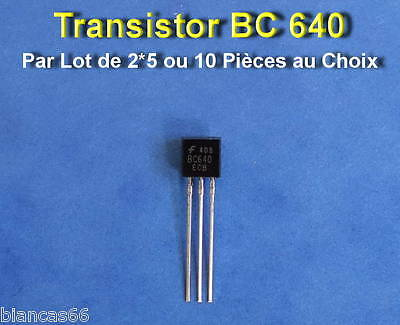 *** LOT AU CHOIX DE 2*5 OU 10 TRANSISTORS PNP TO92 SS8550 ***
