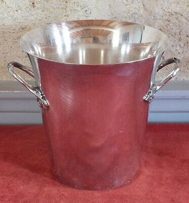 seau a champagne a glace metal argente champagne ice bucket