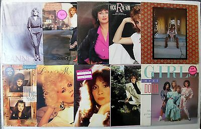 Female Country Lps Lot Of 10 #1444