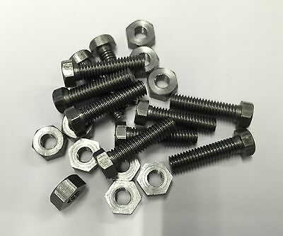"2ba x 3/4"" hexagon head bolts and nuts steel pack of 10"