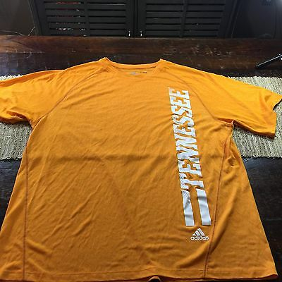 Men's Adidas Tennessee Volunteers ClimaLite Athletic Shirt Sz XL Orange