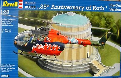 Revell 04906 Bo105 *35Th Anniversary Of Roth * Fly-Out Version Hubschrauber Neu