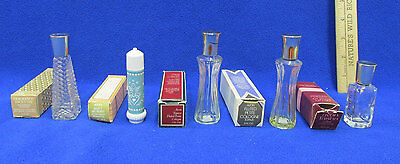 Vintage Avon Bottles Empty Petite Cologne Perfume W/Boxes Tasha Topaze Lot of 5