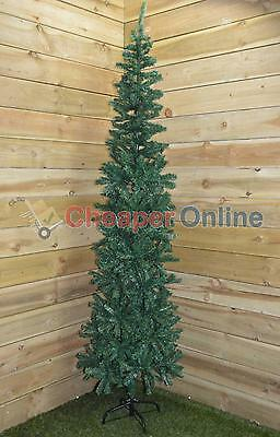 2.2m (7.5ft) Premier Plain Green Spruce Pine Slim Christmas Tree with Stand