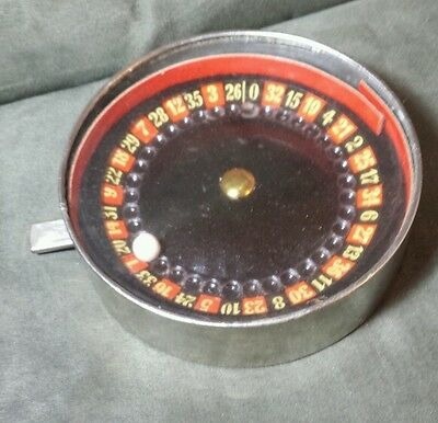 Vintage Made in Germany tin mini roulette hand held game DRGM pre ww2 WWII works