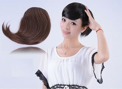 Black Dark Medium Brown Blonde Clip In On Bang Side Fringe Hair Extensions