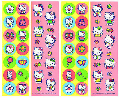 Sanrio HELLO KITTY Classic Bright Stickers 4 Sheets!