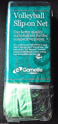 Volleyball Net Beach Sports Indoor Outdoor Official Size Gamelife SlipOn NEW