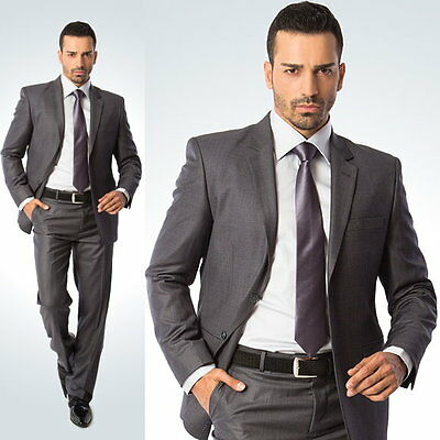 High Quality Mens Suit (Wool Blend)-Single Breasted with Pants (x colour)