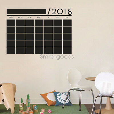 Removable Chalkboard Wall Decals Calendar Decor Self-Adhesive Art stickers US