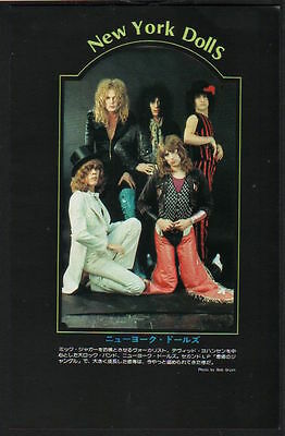 1974 The New York Dolls vintage JAPAN mag photo pinup / mini poster / ny09m